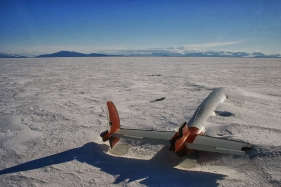 Canale di McMurdo - Antartico Relitto di Pegasus dal 1970
