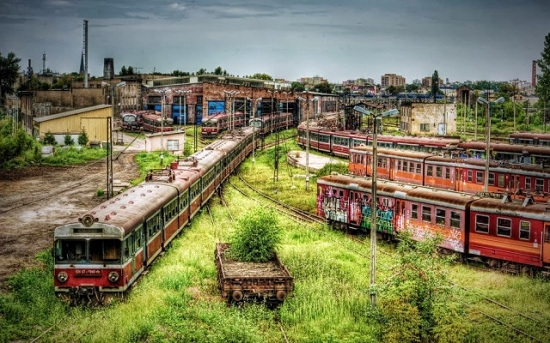 Częstochowa Polonia - Deposito dei treni abbandonati