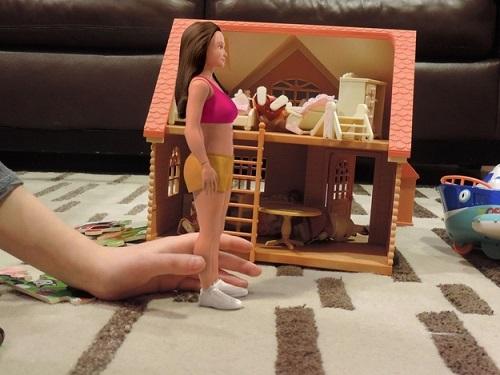 ragazza barbie