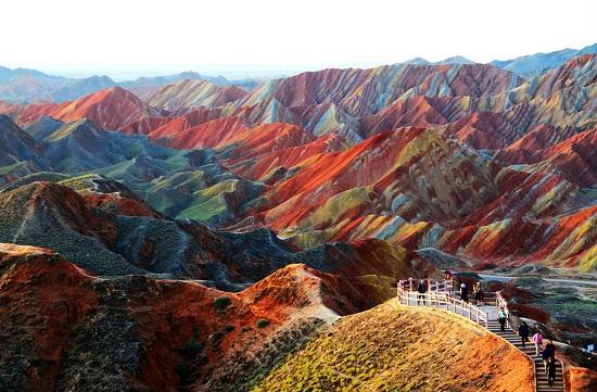 Parco Geologico Zhangye Danxia Gansu Cina