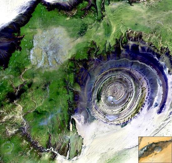 Struttura di Richat Mauritania-Occhio-Africa