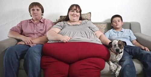 famiglia obesa