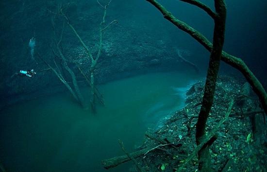 il Fiume sottomarino Cenote Angelita Messico