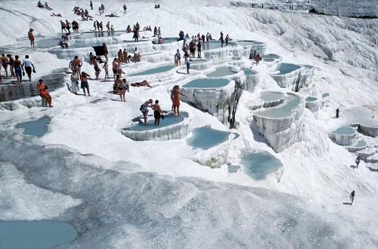 turchia cascata bianca di Pamukkale