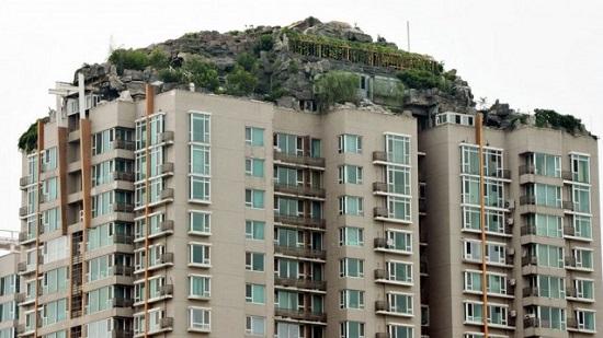 La villa finto montagna di un medico cinese Pechino Cina