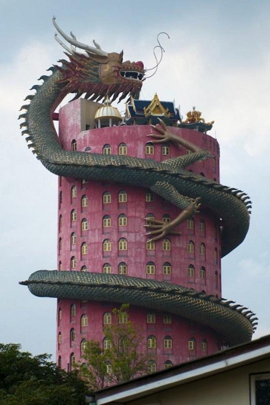 Tempio di Wat Samphran Khlong Mai Thailandia