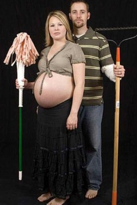 incinta donna lava