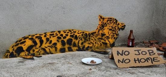 street art fra biancoshock tigre