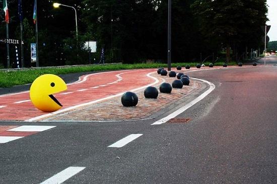 street art pac man Fra Biancoshock