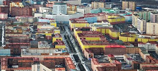 città di Norilsk inquinata