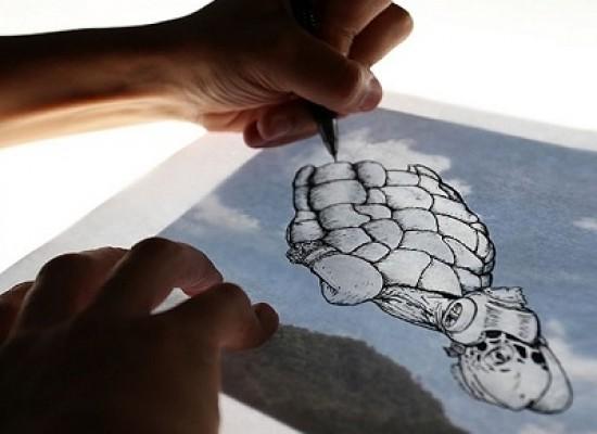 Martín Feijoó l'artista che realizza disegni partendo dalle foto scattate alle nuvole
