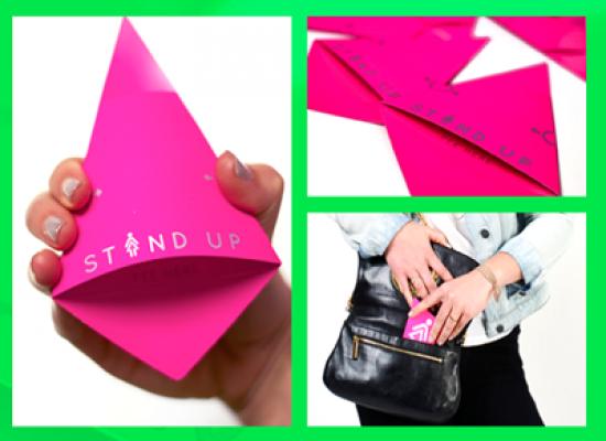 Stand Up il gadget biodegradabile che consente alla donne di fare la pipì in piedi
