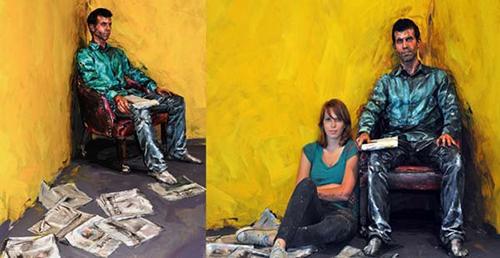 pittura persone da artista
