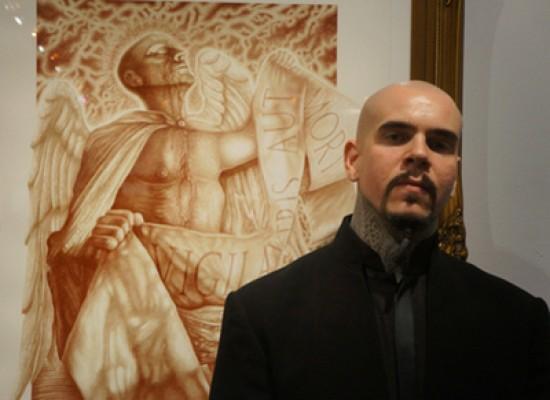 Vincent Castiglia, l'artista e pittore che dipinge con il suo sangue