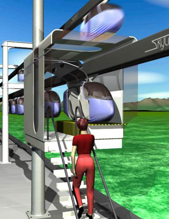 stazione skytran 2 passeggeri