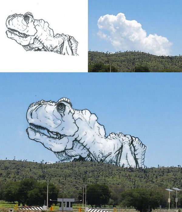 t-rex nuvole