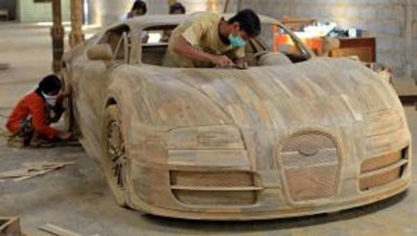 bugatti veyron legno teak