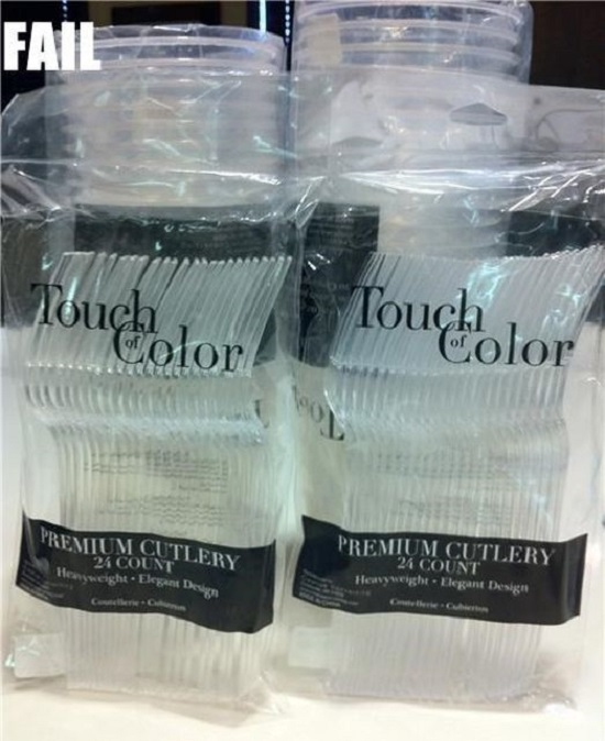 forchette plastica colore