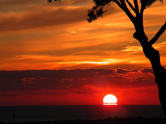 solo tramonto rosso