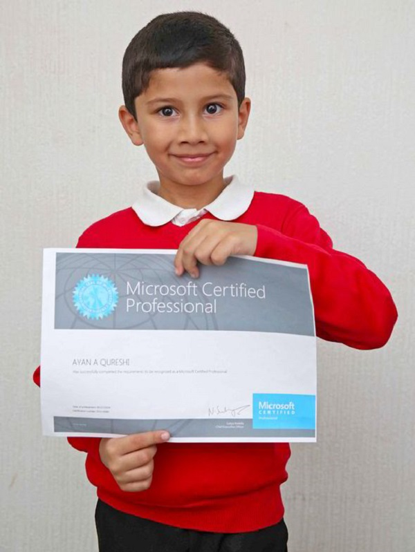 ayan 5 anni microsoft certified professional