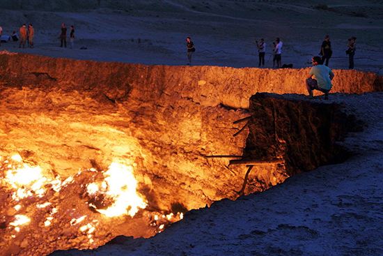 Turkmenistan deserto porta inferno