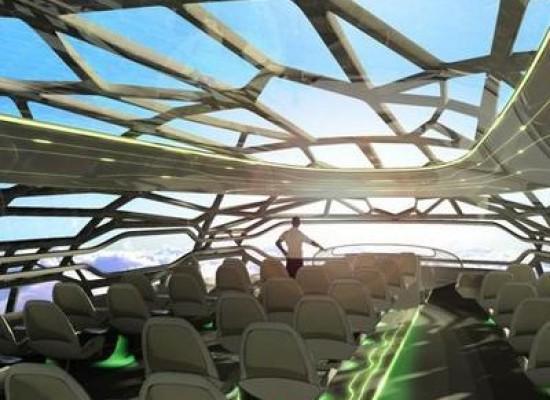 Airbus l'aereo trasparente e multimediale per il trasporto dei passeggeri