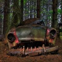 Il cimitero di auto abbandonate in Belgio
