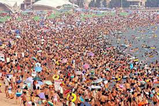 spiagge affollate cinesi
