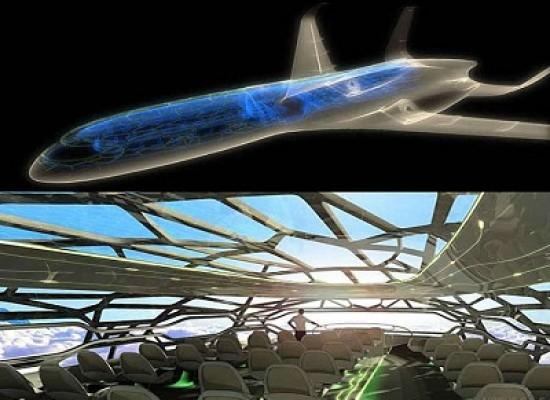 Arriva l'aeroplano del futuro, con pareti trasparenti e schermi OLED al posto dei finestrini