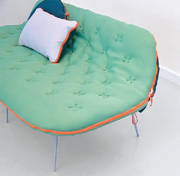 designer sacco a pelo divano