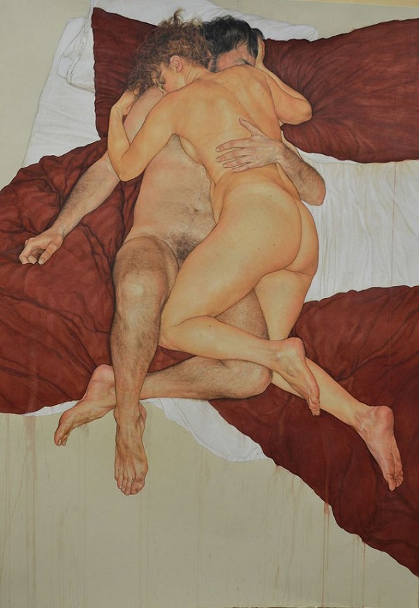 Have bing bare naked couple art panting from