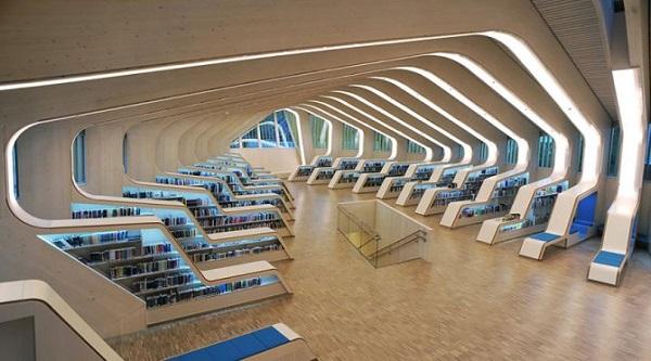 biblioteca vennesla in norvegia