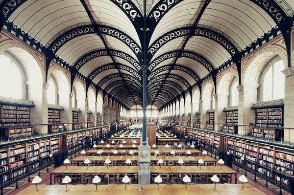 biblioteca di santa genevieve di parigi
