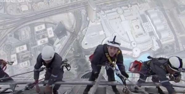 Burj Khalifa di Dubai pulire finestre