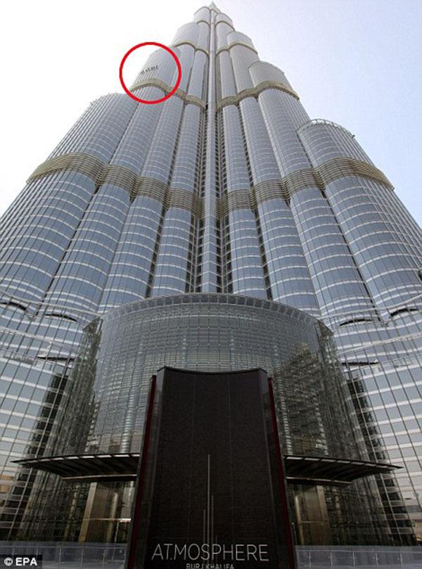 dubai grattacielo pulizia vetri