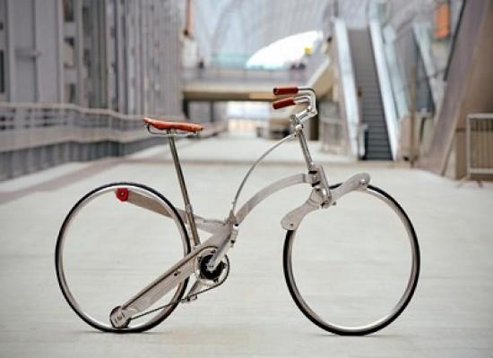 E' italiana la prima bicicletta senza raggi che si piega e si mette nello zaino