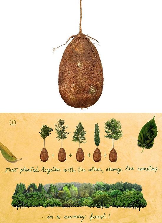 gusci organici sepoltura defunti