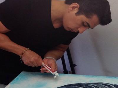 Le opere d'arte di Cristiam Ramos realizzate con il dentifricio