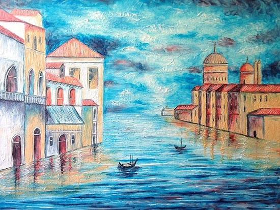paesaggio disegnato con il dentifricio Crsitiam Ramos