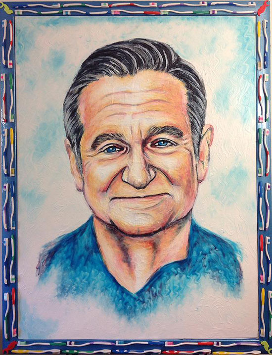 pittura dentifricio Crsitiam Ramos Robin Williams