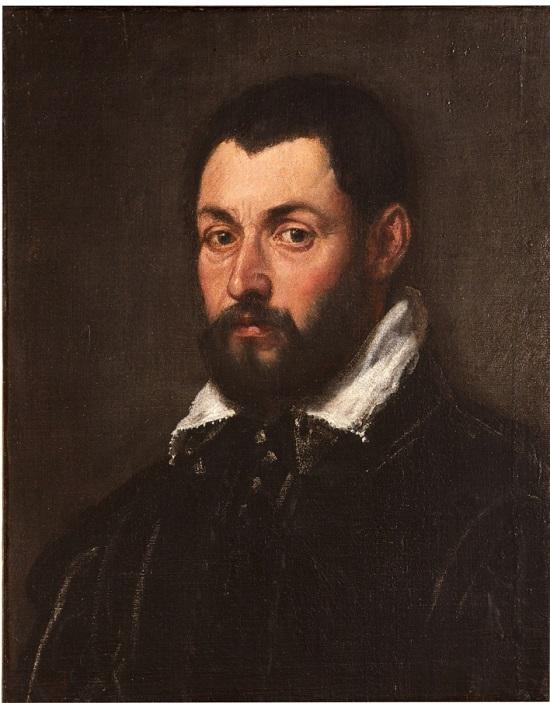olio su tela Cerchia di Jacopo Tintoretto Ritratto maschile
