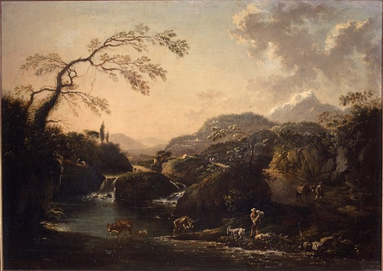 olio su tela Hans de Jode Paesaggio