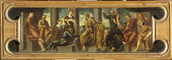olio su tavola Jacopo Tintoretto Giudizio di Salomone