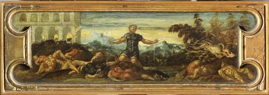 olio su tavola Jacopo Tintoretto Sansone