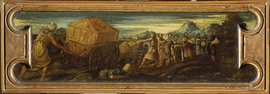 olio su tavola Jacopo Tintoretto Trasporto arca alleanza