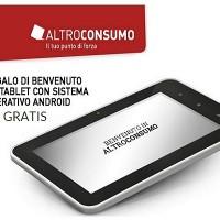 Altroconsumo come ricevere un tablet in Omaggio con 2 euro