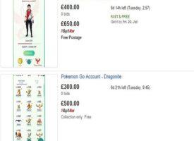 Ecco i primi account Pokèmon GO in vendita su Ebay