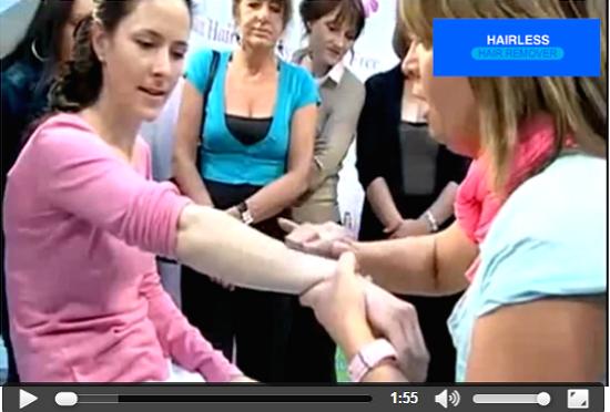 depilazione indolore hairless velvepil video