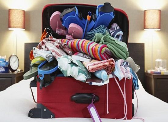 preparare la valigia ottimizzando spazi