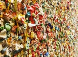 A Seattle un muro fatto di gomme da masticare